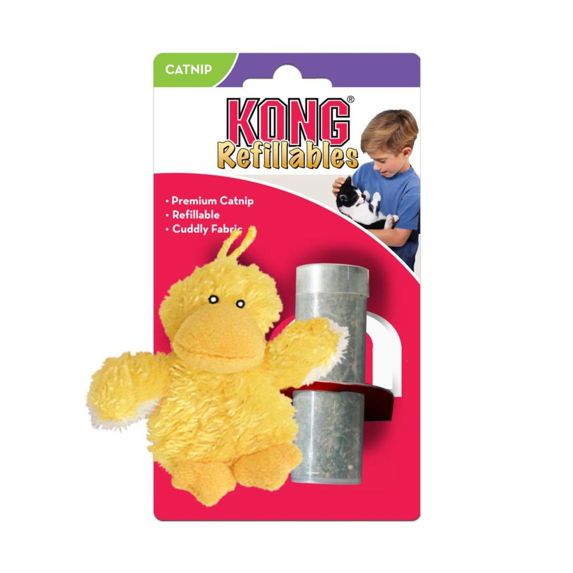 KONG Refillables Duckie with Catnip 10cm