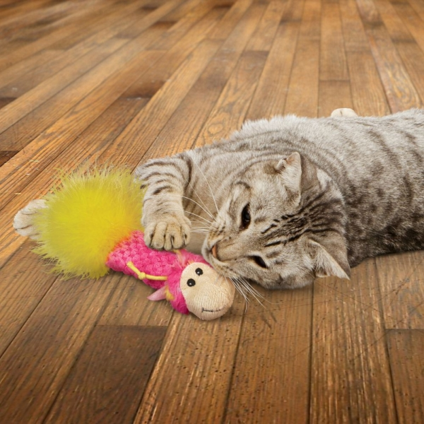 KONG Critter Pillows with Catnip LIFESTYLE