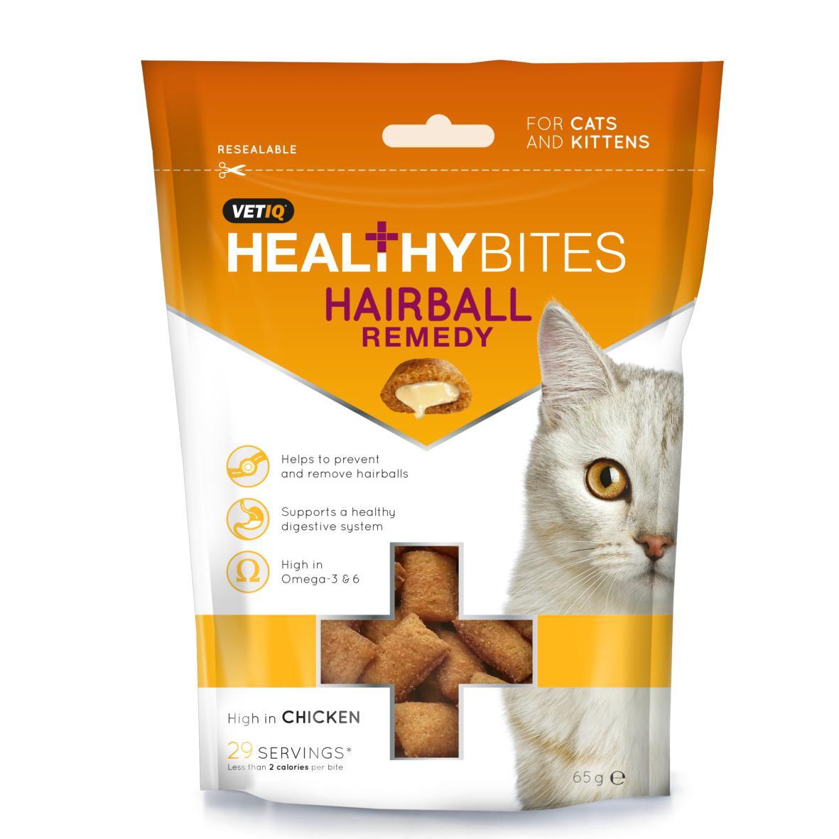VetIQ Healthy Bites Hairball Remedy Treats 65gm