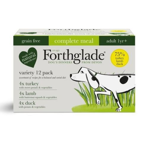 Forthglade Adult Complete Meal Variety Pack 12x395g [Turkey, Lamb, Duck]