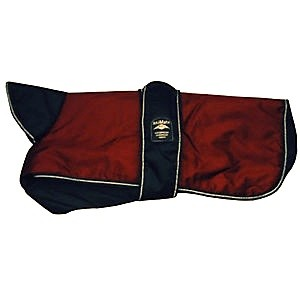 Animate Underbelly Reflective Dog Coat Burgundy