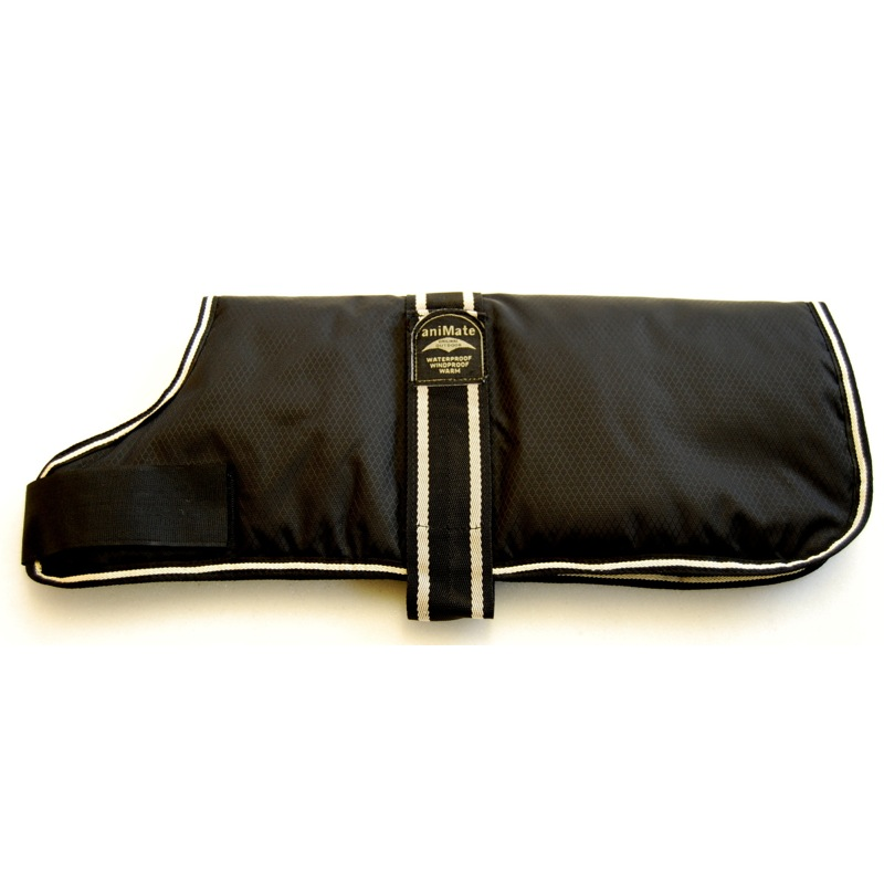 Animate Padded Dog Coat Black