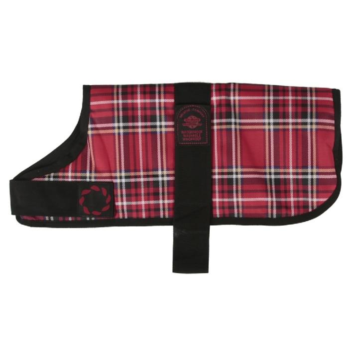 Outhwaite Padded Dog Coat Red Tartan