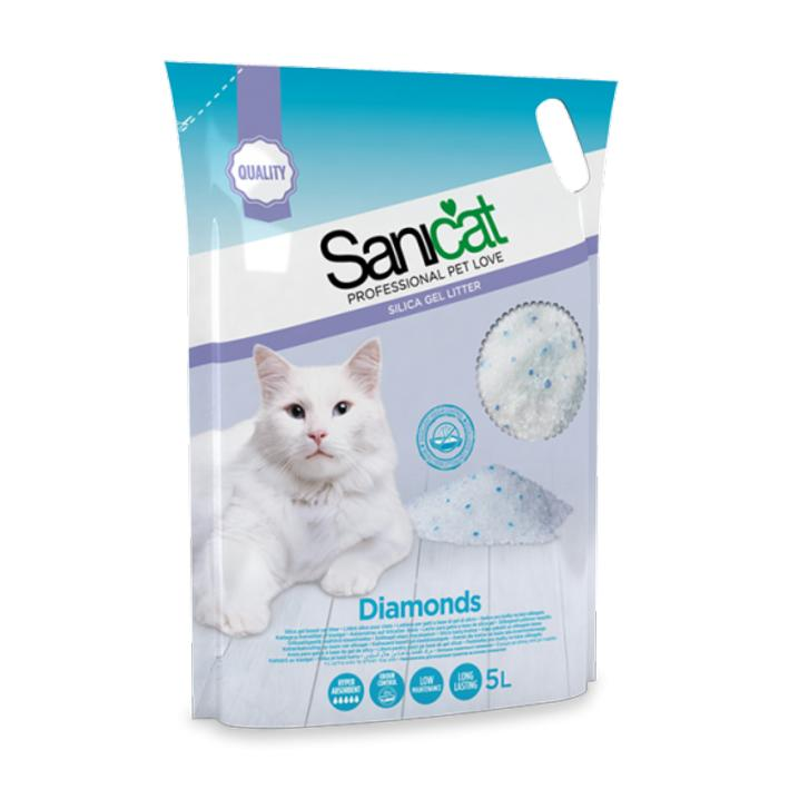 Sanicat Diamonds Silica Gel Litter 3.8L