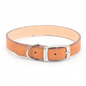 Ancol Heritage Leather Collar Tan
