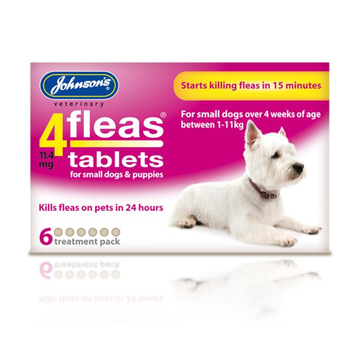 Johnsons 4Fleas Tablets for Small Dogs 6-Pack