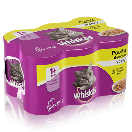 Whiskas Cat Food Poultry Selection in Jelly
