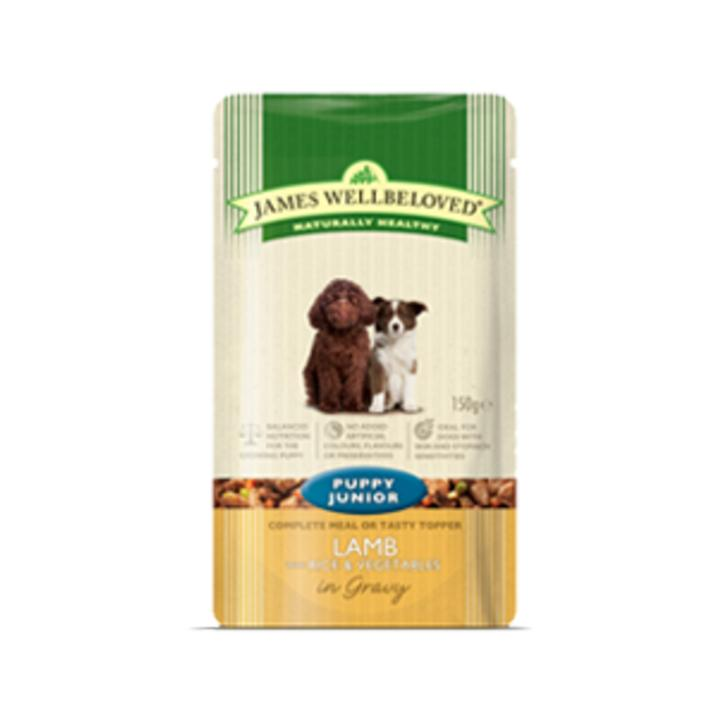 James Wellbeloved Puppy Food Pouches with Lamb