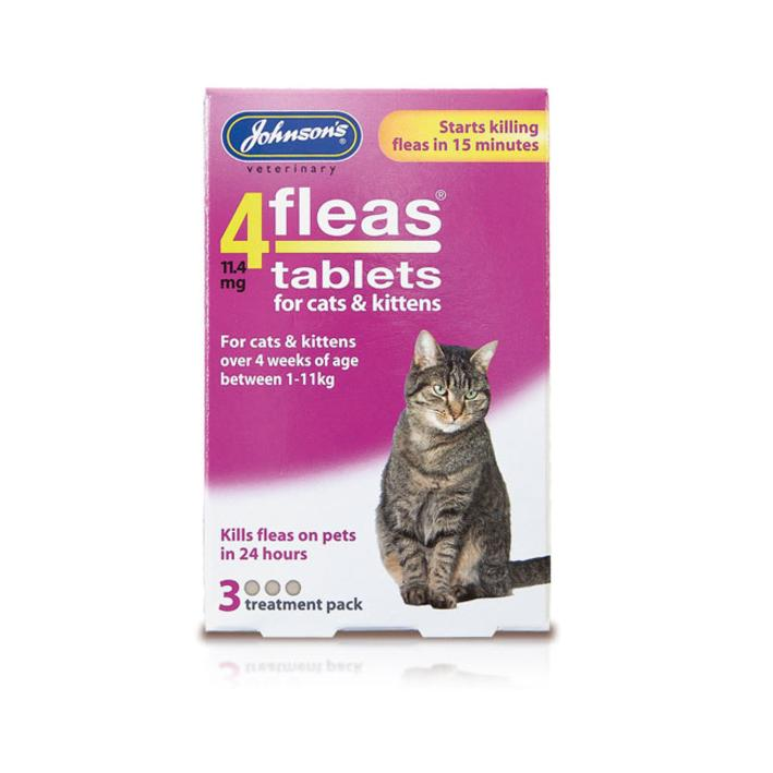 Johnsons 4Fleas Tablets for Cats 3pk