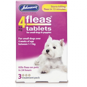 Johnsons 4Fleas Tablets for Small Dogs 3-Pack