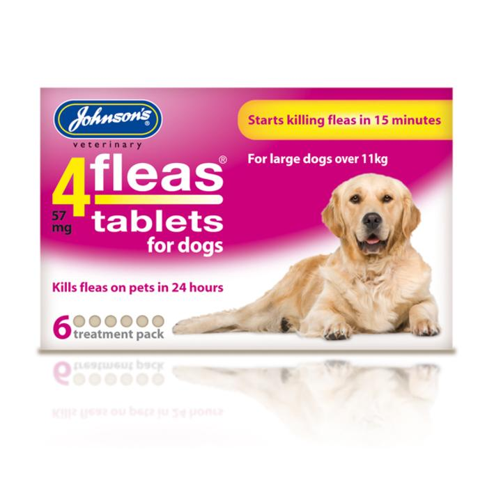 (D) Johnsons 4Fleas Tablets for Dogs 6-Pack