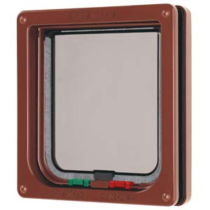 Petmate Cat Flap 309b Brown