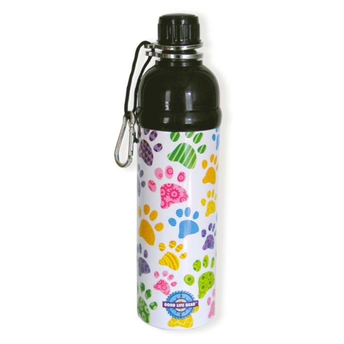 Long Paws Pet Water Bottle PUPPY PAWS Design 750ml