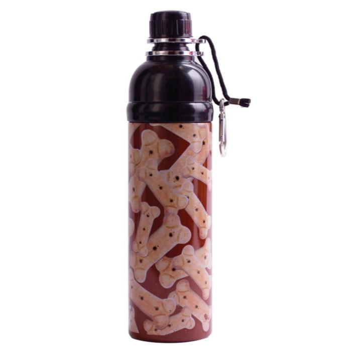 Long Paws Pet Water Bottle BONES Design 750ml