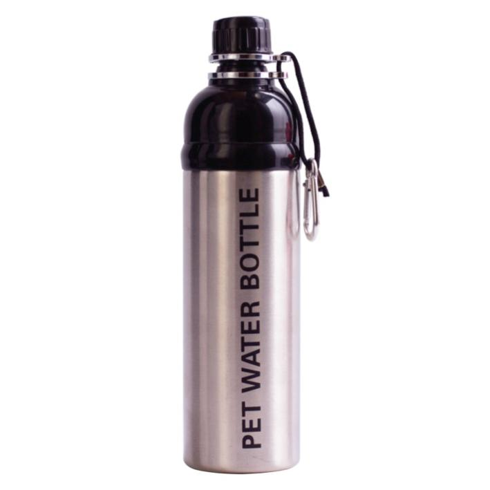 Long Paws Pet Water bottle SILVER Design 750ml
