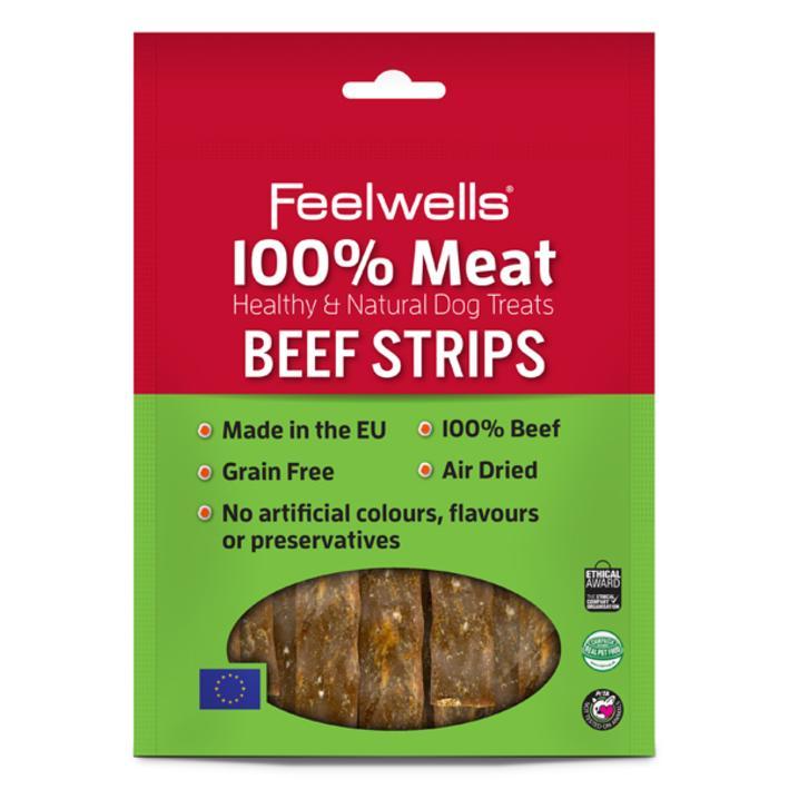 Feelwells Beef Strips 100g