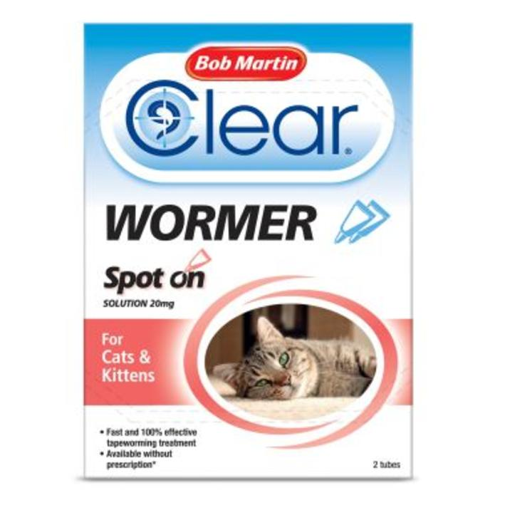 Bob Martin Clear Wormer Spot On for Cats