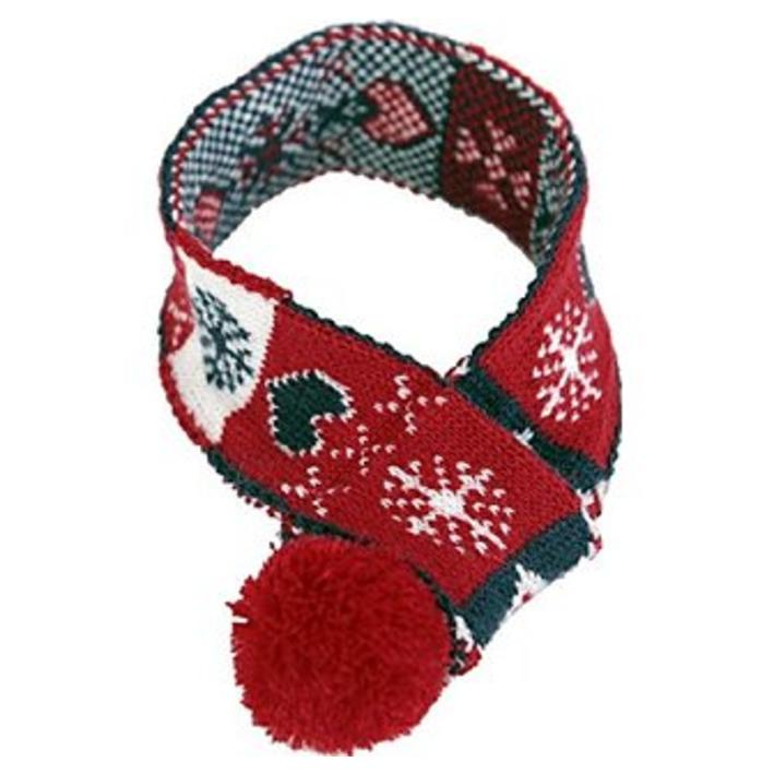 Animate Festive Dog Scarf with Snowflake Design