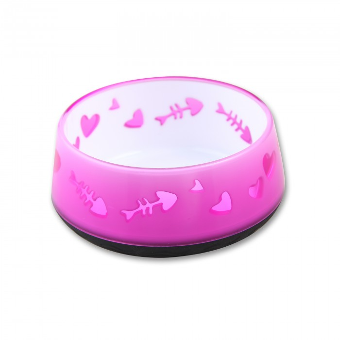 All for Paws Cat Love Plastic Bowl Blue
