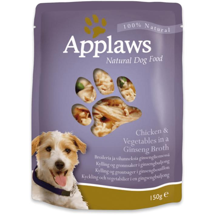 Applaws Dog Food Pouches Chicken in Ginseng Broth