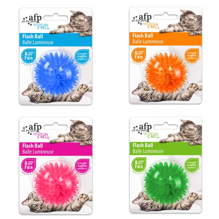 All for Paws Modern Cat Flash Ball ALL COLOURS