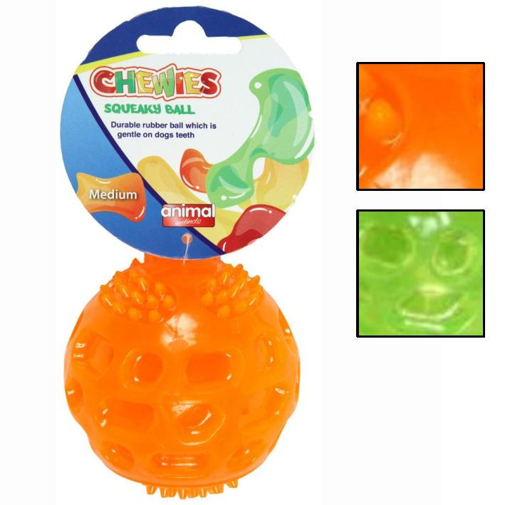 Animal Instincts Chewies Squeaky Ball Medium 6.5cm