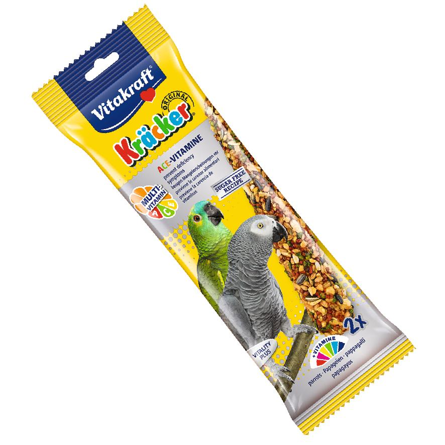 CLEARANCE Vitakraft Parrot Kracker Sticks Multivitamin 2pcs