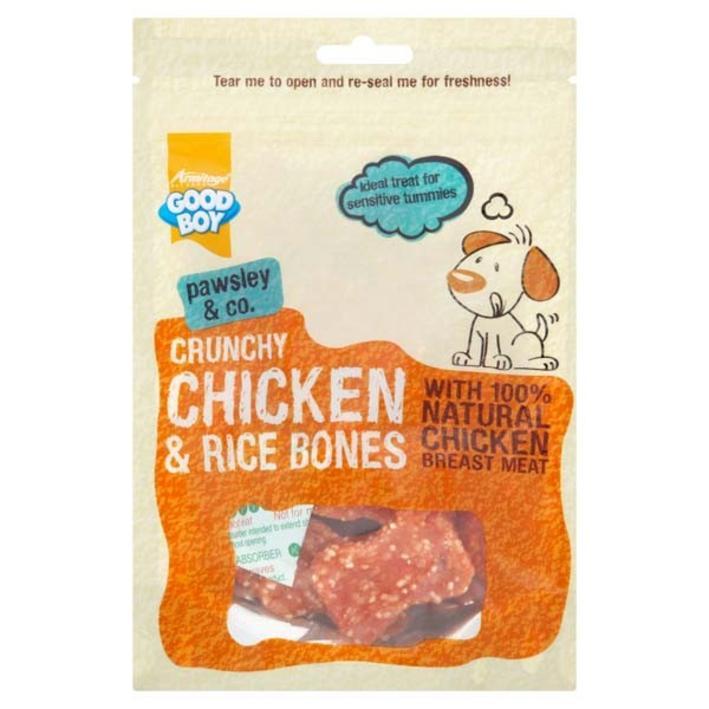 Good Boy Crunchy Chicken & Rice Bones 100g