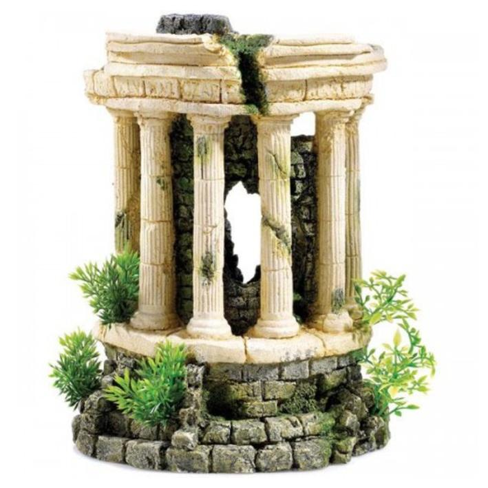 Classic Roman Tower with Plants and Air