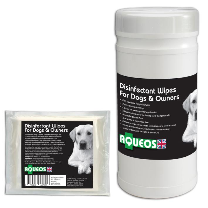 Aqueos Disinfectant Wipes