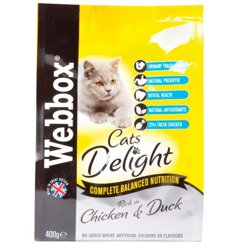 Webbox Cats Delight Food Chicken and Duck