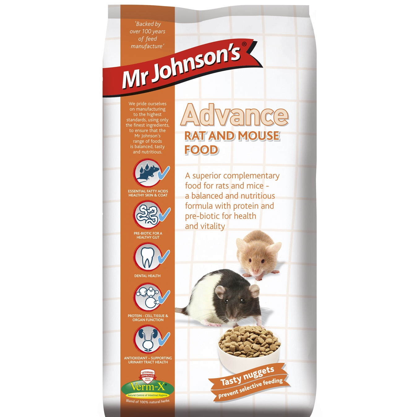 Mr Johnsons Advance Rat and Mouse Food