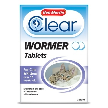Bob Martin Clear Wormer Tablets for Cats