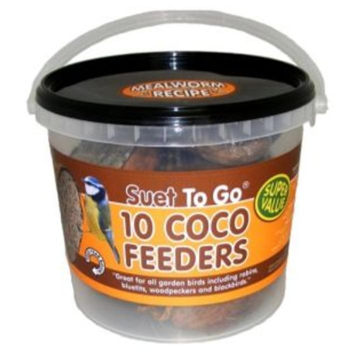 Suet to Go Coconut Feeder Tub