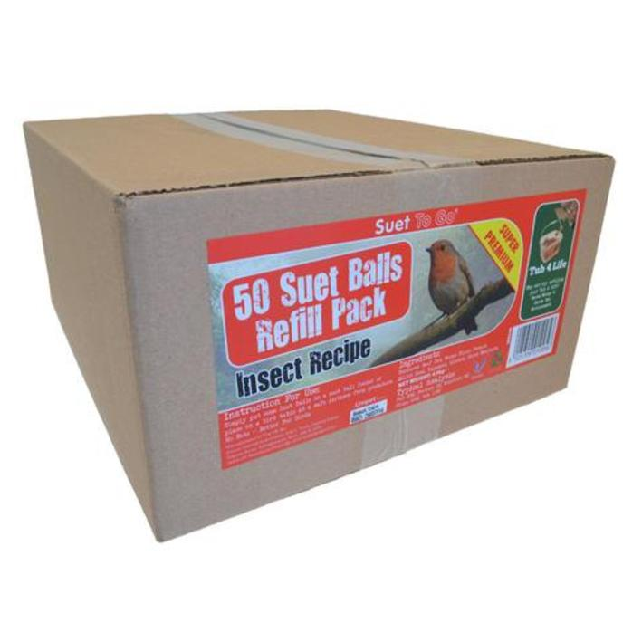 Suet to Go Suet Balls with Insects 50 x 90gm Box