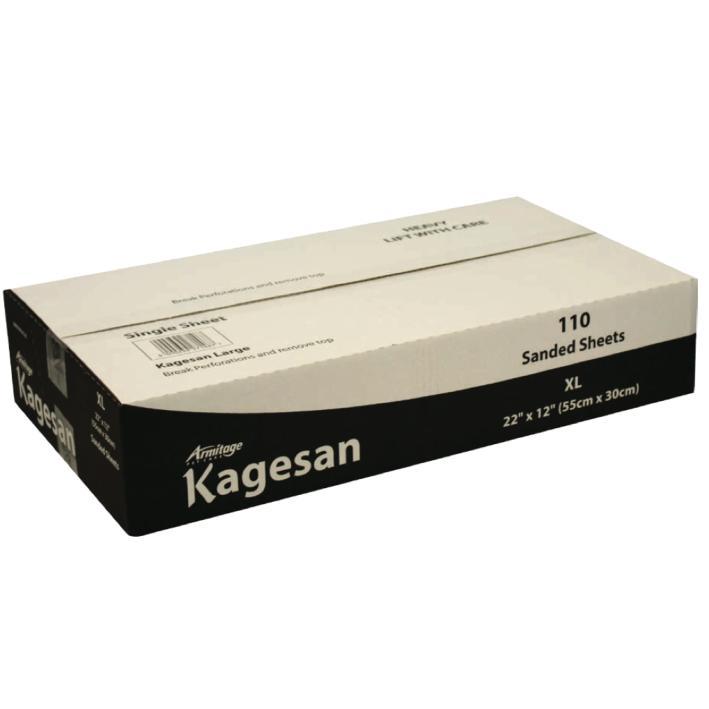 Kagesan Sanded Sheets White BULK 110pcs