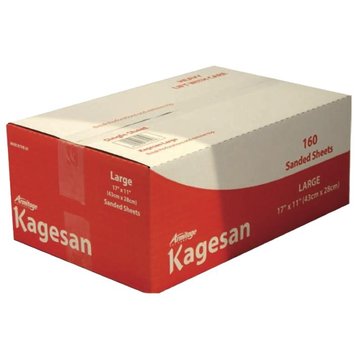 Kagesan Sanded Sheets Red BULK 160pcs