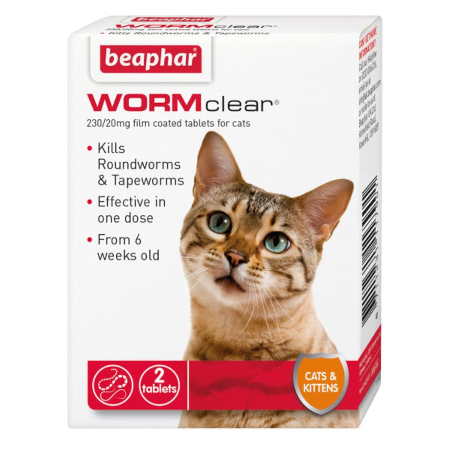 BEAPHAR WORMclear Tablets for Cats 2pk