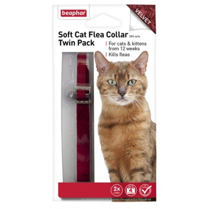 Beaphar Cat Flea Collar Velvet Twin-Pack