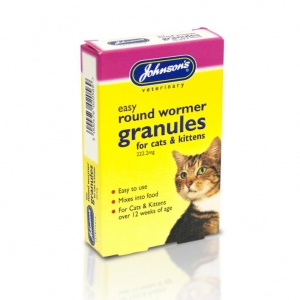 Johnsons Round Wormer Granules for Cats