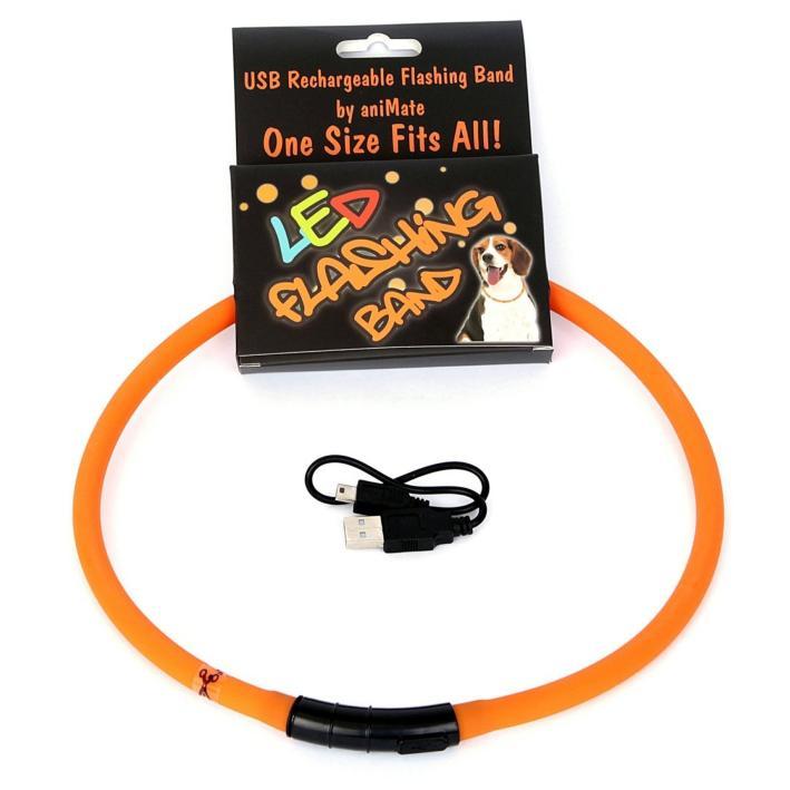 Animate LED Flashing Band Orange
