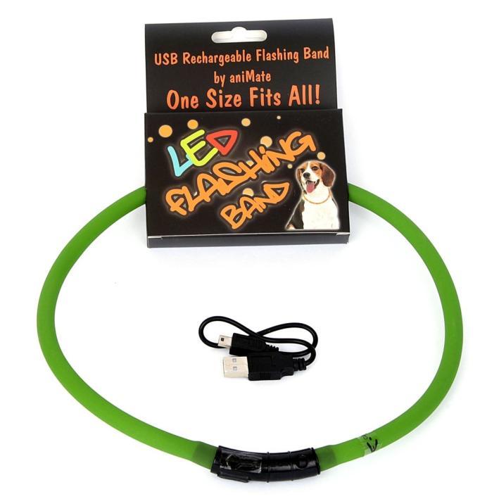 Animate LED Flashing Band Green