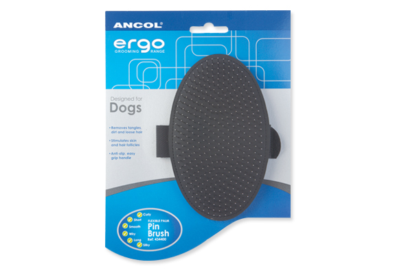 Ancol Ergo Palm Pin Brush