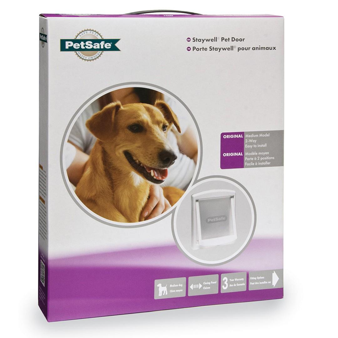 Petsafe Staywell Pet Door Medium 2 Way White 740w Purely Pet