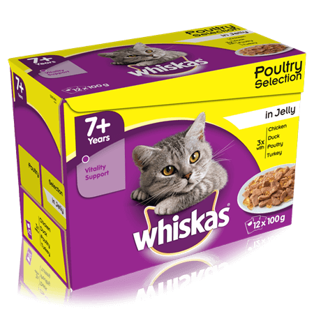 Whiskas Senior Poultry Selection in Jelly 48 x 100gm - Purely Pet Supplies Ltd