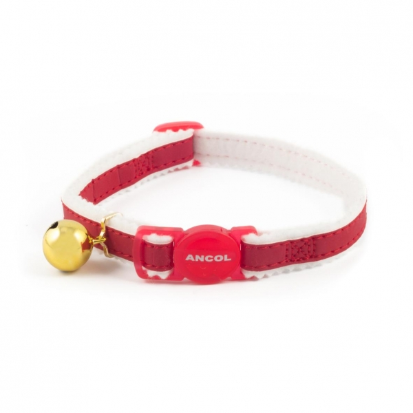 Ancol Reflective Fabric Cat Collar Red