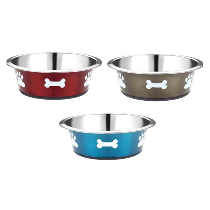 CLEARANCE Classic Posh Paws Bowl BRIGHT