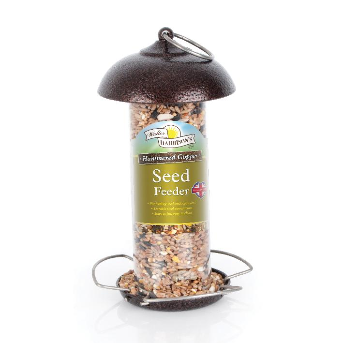 Walter Harrisons Hammered Copper Seed Feeder