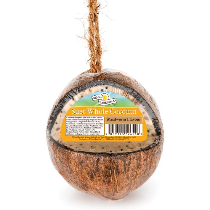 Walter Harrisons Suet Whole Coconut Feeder