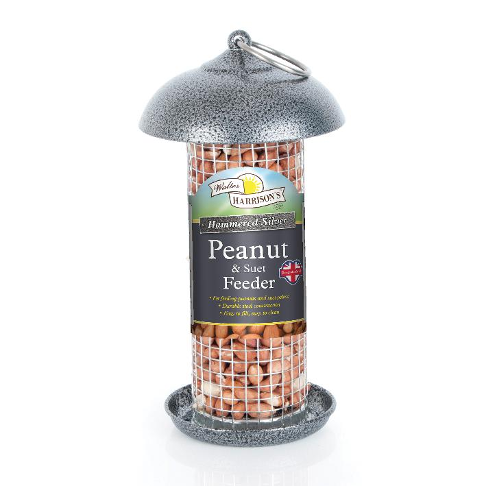 Walter Harrisons Hammered Silver Peanut and Suet Feeder